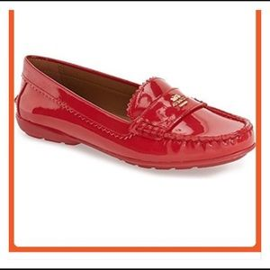 Coach Red Odette Red Loafers